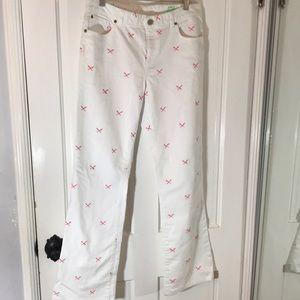 Lilly Pulitzer jeans denim white NWOT 12 summer